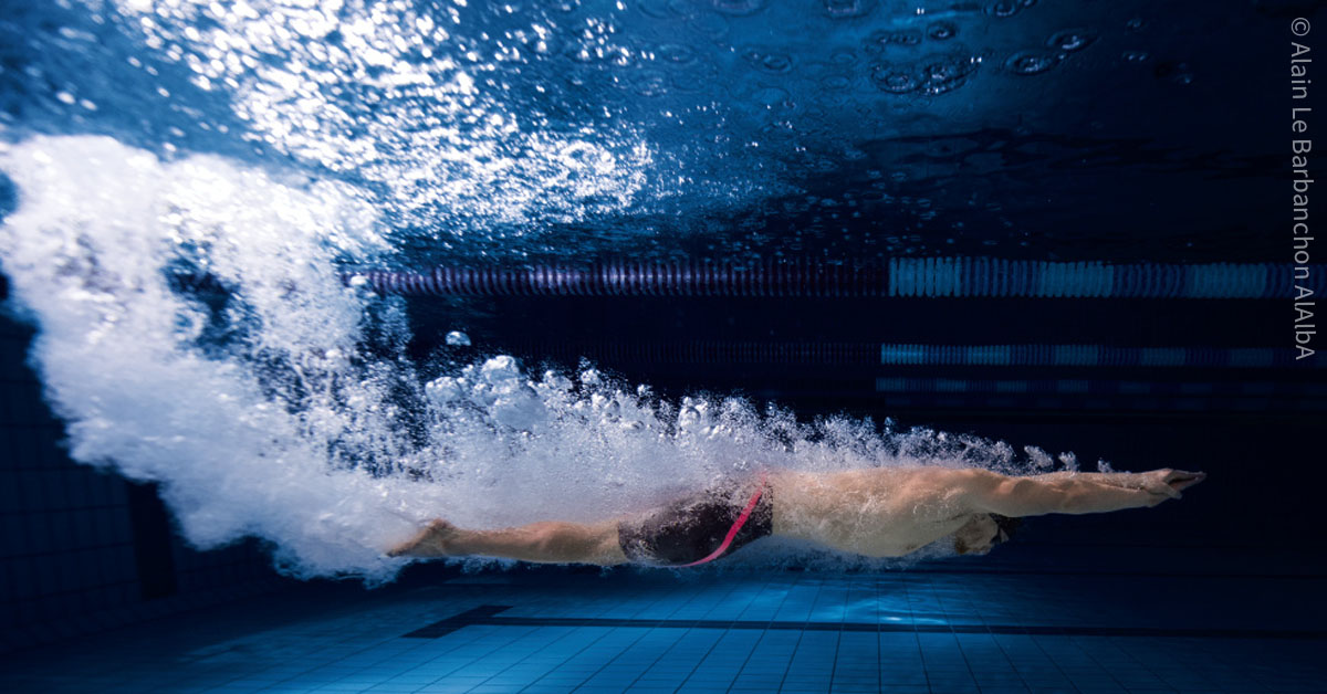 Quelle est la vitesse maximale d'un nageur en km h?